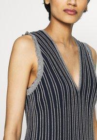M Missoni - DRESS - Strikket kjole - blue silver - 6