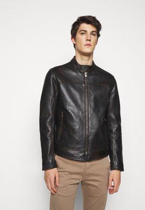 CLEARY - Veste en cuir - brown