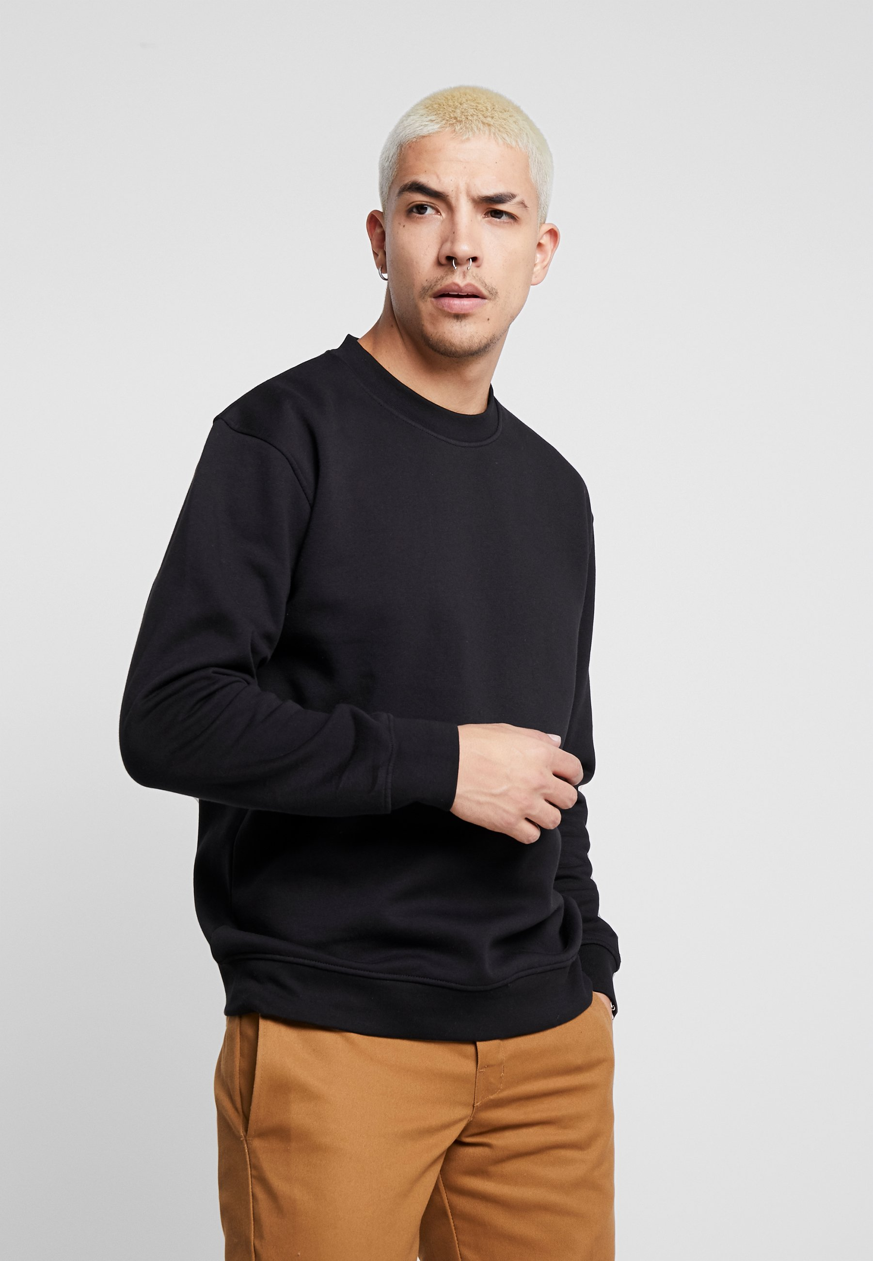 Common Kollectiv FLASH CREW NECK SWEATER - Sweatshirt - black