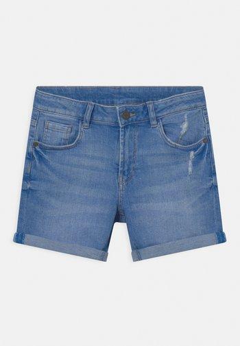 ROLL UP - Denim shorts - blue denim