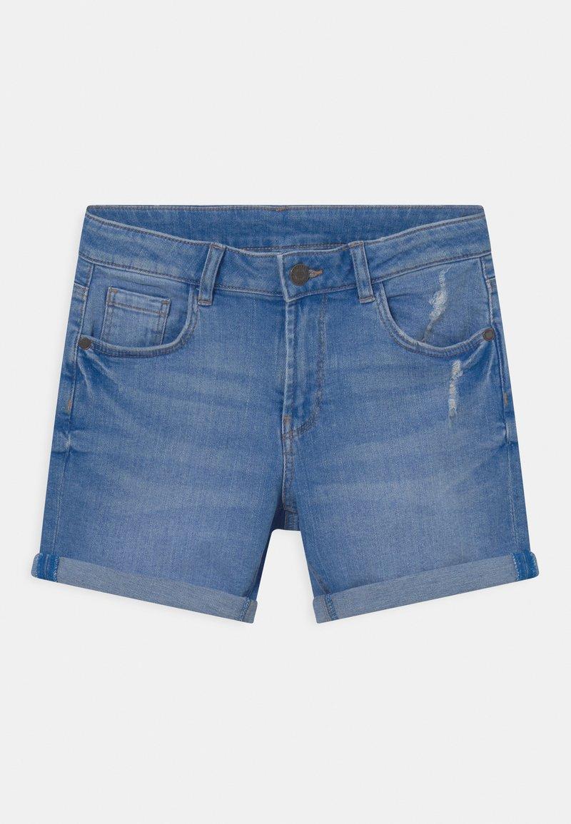 Marks & Spencer London - ROLL UP - Denim shorts - blue denim