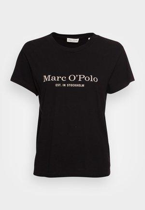 SHORT SLEEVE ROUND NECK PLACED PRINT - T-Shirt print - black