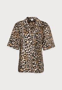 Button-down blouse - leopard