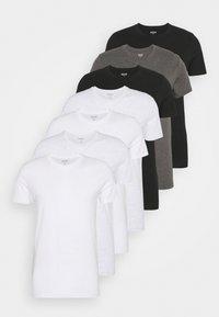 Burton Menswear London - SHORT SLEEVE CREW 7 PACK - T-shirt basic - black - 7