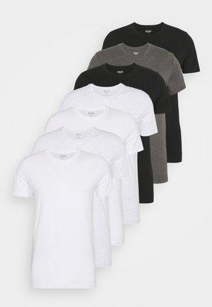 SHORT SLEEVE CREW 7 PACK - Jednoduché triko - black