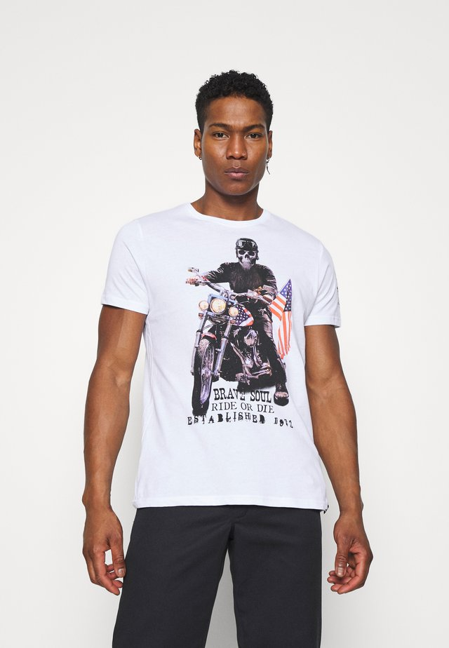 BRANDOX - Print T-shirt - optic white