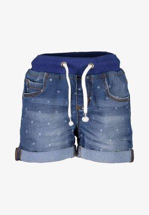 LIFE IS FLOWERFUL - Denim shorts - jeansblau aop