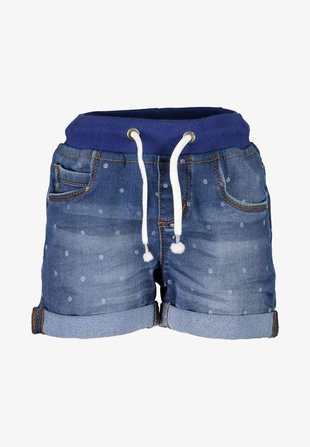 LIFE IS FLOWERFUL - Shorts di jeans - jeansblau aop