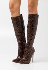 RAID - LAVERNE - High heeled boots - brown - 0