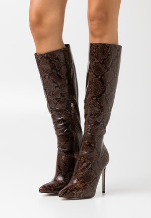 LAVERNE - High heeled boots - brown