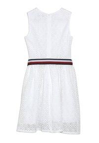 Tommy Hilfiger - STRIPE DRESS  - Sukienka koktajlowa - white - 1