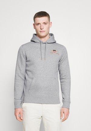 MEDIUM ARCHIVE SHIELD HOODIE - Sweatshirt - grey melange