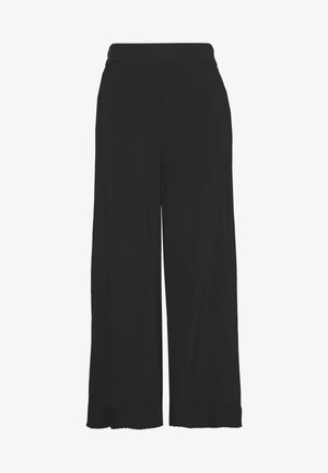 PLEAT DETAIL TROUSER - Bukser - black