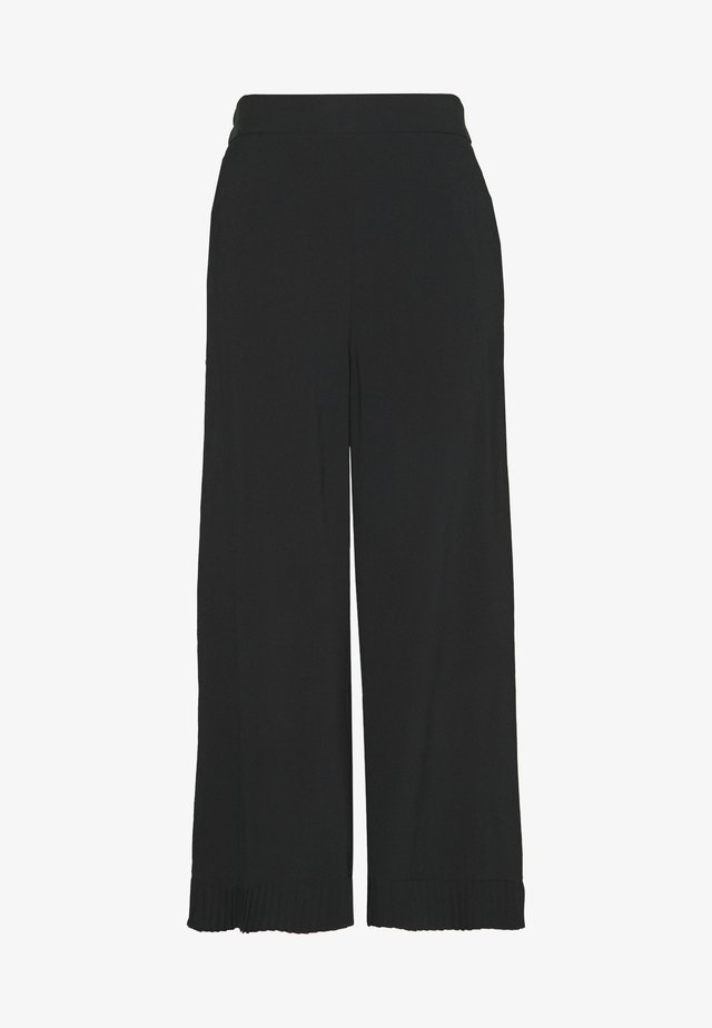 PLEAT DETAIL TROUSER - Pantaloni - black