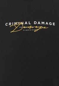 Criminal Damage - SIGNATURE TEE - T-shirt imprimé - black - 2