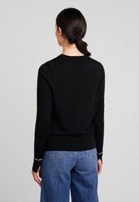 Calvin Klein - SUPERFINE CREW NECK - Jumper - black - 2