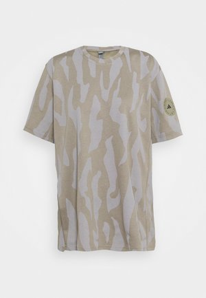 TEE - T-shirts med print - clay/grey