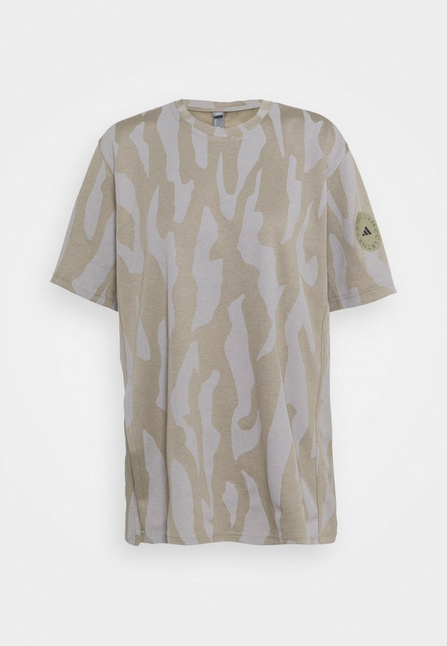 TEE - T-shirt print - clay/grey