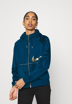 Zip-up hoodie - valerian blue/deep ocean