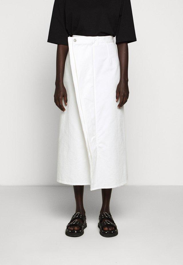 SKIRT - Denim skirt - white