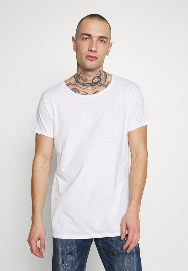 VITO SLUB - T-shirt print - white