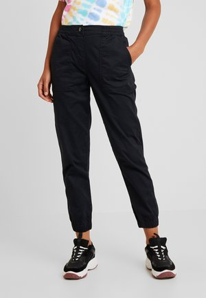 MID RISE CUFFED - Trousers - washed black