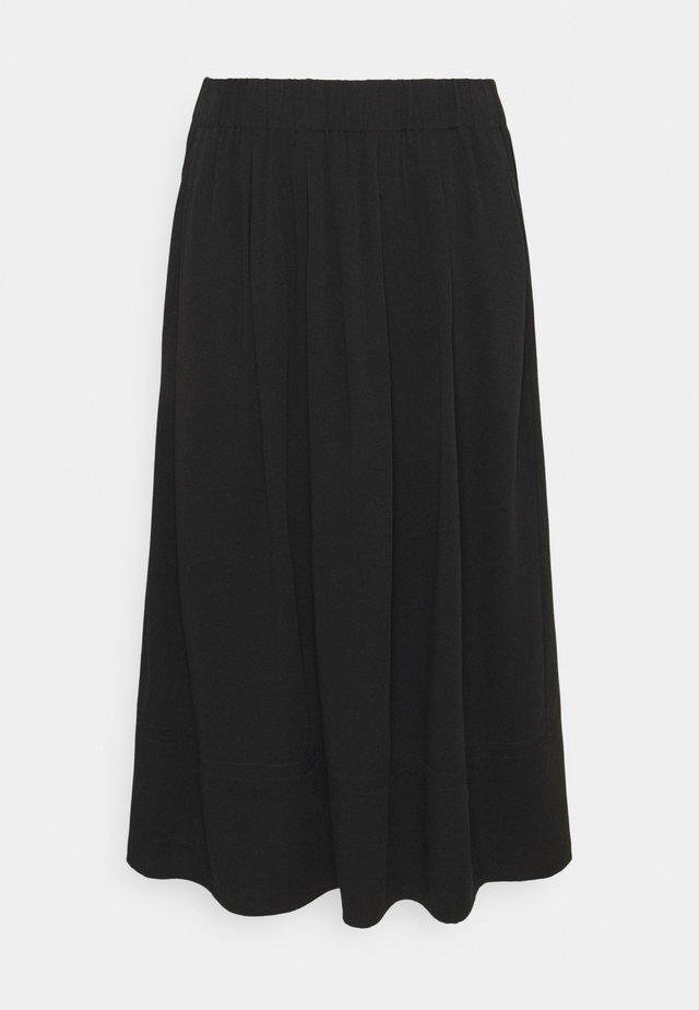 KIA MIDI - Plisovaná sukně - black