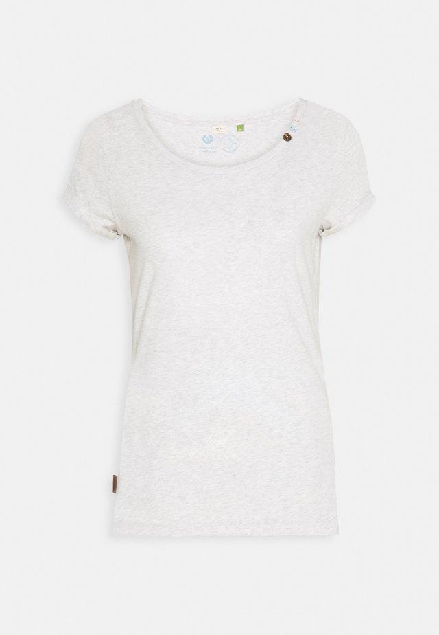 FLORAH ORGANIC - T-shirt con stampa - white