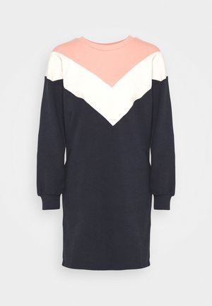 ONLASHLEY DRESS  - Day dress - night sky/color blocking blue/rose