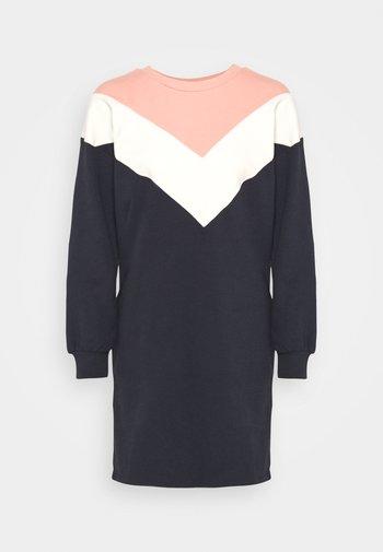 ONLASHLEY DRESS  - Denní šaty - night sky/color blocking blue/rose