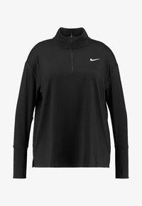 Nike Performance - W NK ELMNT TOP HZ PLUS - Sports shirt - black/reflective silver - 3