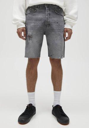 MIT KLECKSEN - Shorts di jeans - mottled grey