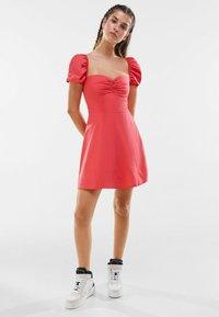 Bershka - Day dress - neon pink - 1