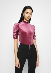 Monki - NARIN TOP - Long sleeved top - wine red - 0