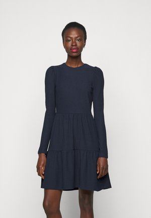 ONLNELLA PUFF DRESS - Pletené šaty - night sky