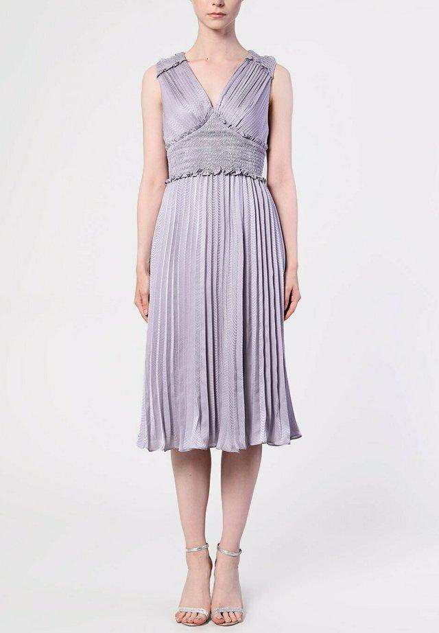 LILAC GREY PLUNGE FRONT - Korte jurk - lilac grey