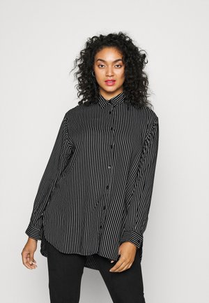 RELAXED - Button-down blouse - black