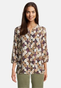 Betty & Co - MIT 3/4 ARM - Blouse - weiß/camel - 0