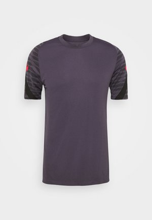 DRY STRIKE 21 - Camiseta estampada - dark raisin/black/siren red