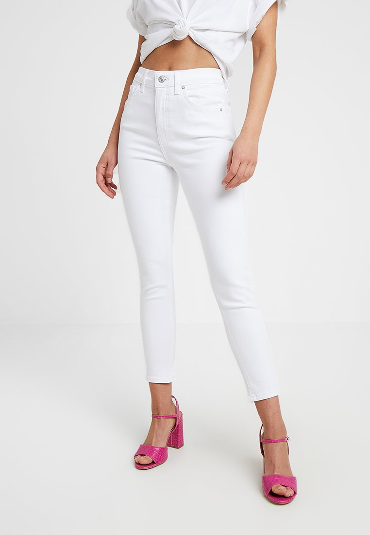 Topshop Petite - NEW WASH JAMIE - Jeans Skinny Fit - white