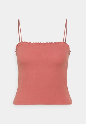 BARE RUFFLE CAMI - Top - red
