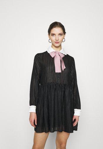 ETIQUETTE SMOCK DRESS - Shirt dress - black