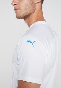 Puma - OLYMPIQUE MARSEILLE HOME REPLICA  - Pelipaita - white/bleu azur - 4