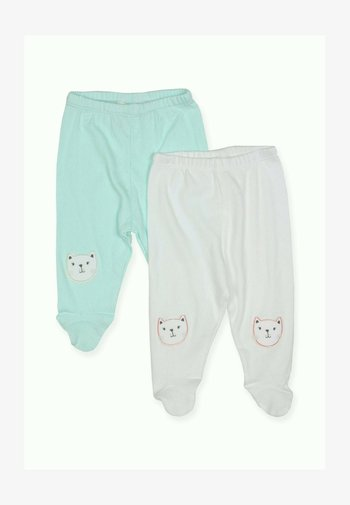 2 PACK  - Trousers - off-white