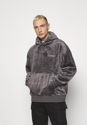 GREY LOGO TEDDY HOOD - Sweatshirt - grey