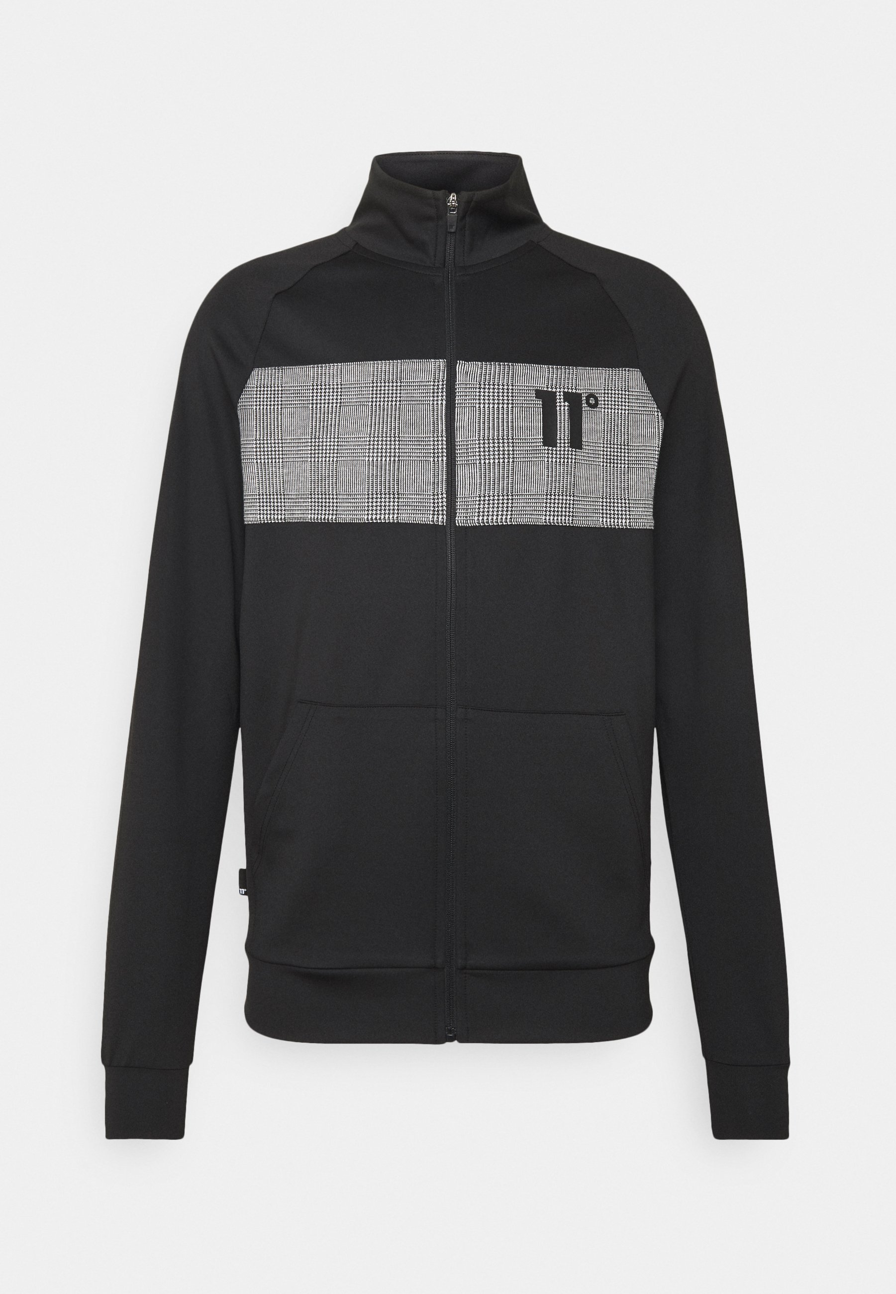 Men CUT AND SEW PRINCE OF WALES POLY TRACK  - Cardigan