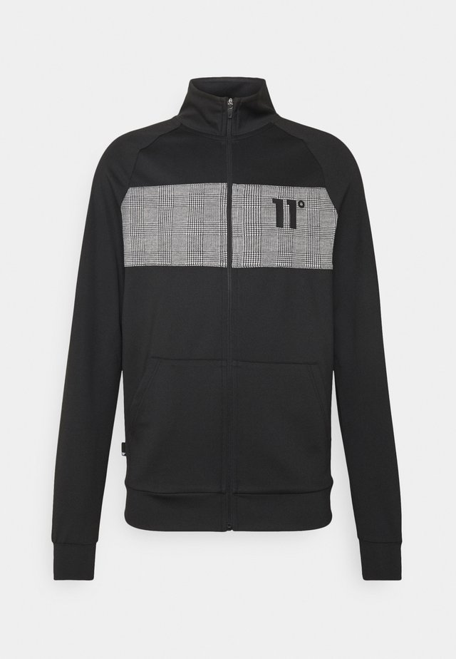 CUT AND SEW PRINCE OF WALES POLY TRACK  - Chaqueta de punto - black/white