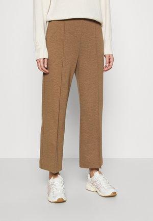 WIDE LEGGED TROUSER - Trousers - brown medium dusty