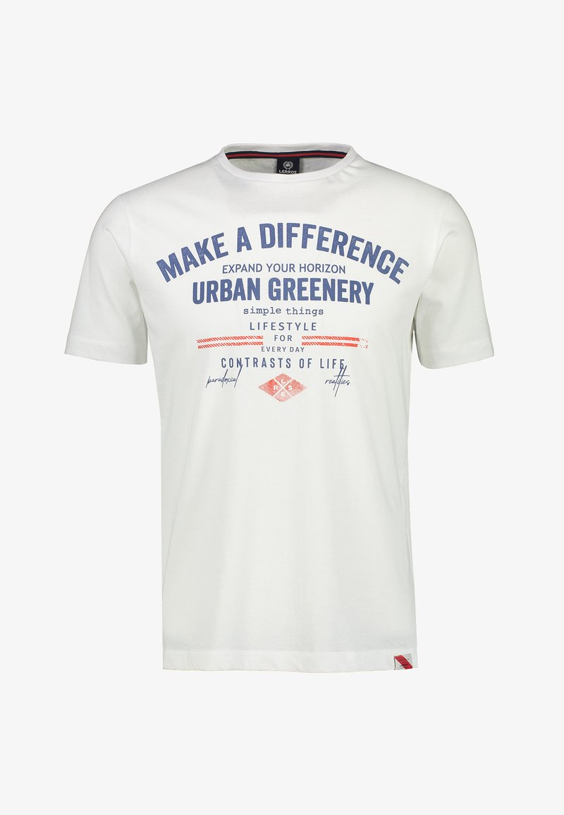 LERROS - MAKE A DIFFERENCE - Print T-shirt - white
