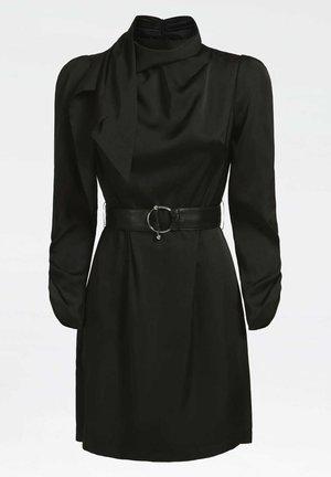 MIT GÜRTEL ANIMALPRINT - Shift dress - schwarz